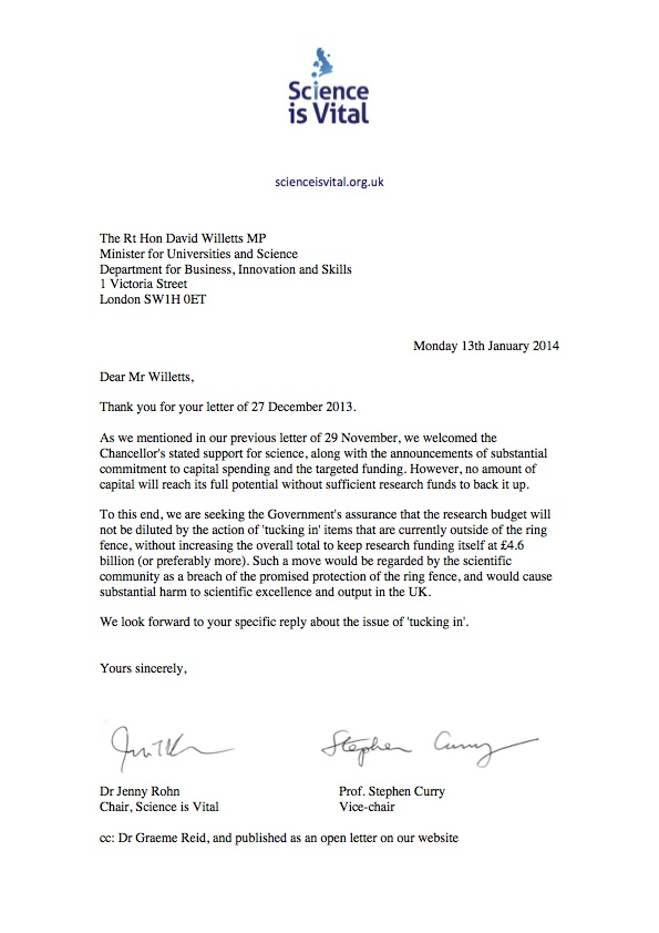 Response to Willetts, Jan2014