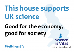 The Science is Vital election poster